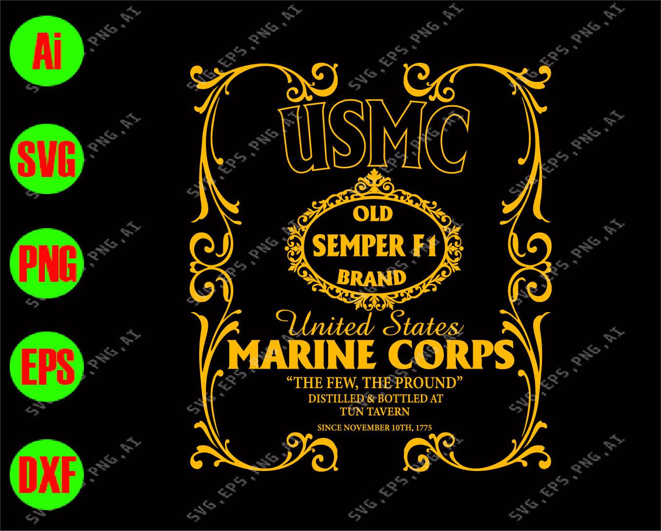 USMC old SEMPER FI brand United States marine corps svg.