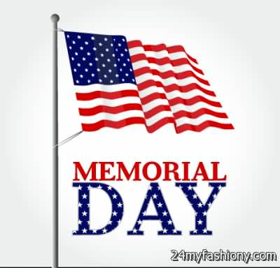 Memorial Day United States Of America Flag Clipart.