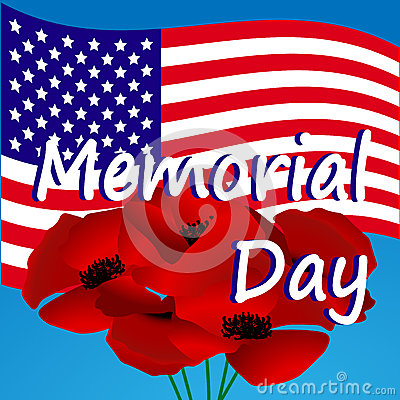 Memorial Day In The United States Illustration Stock Vector.