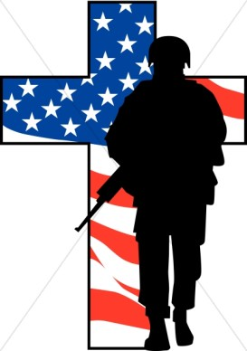 Memorial day soldier clipart.