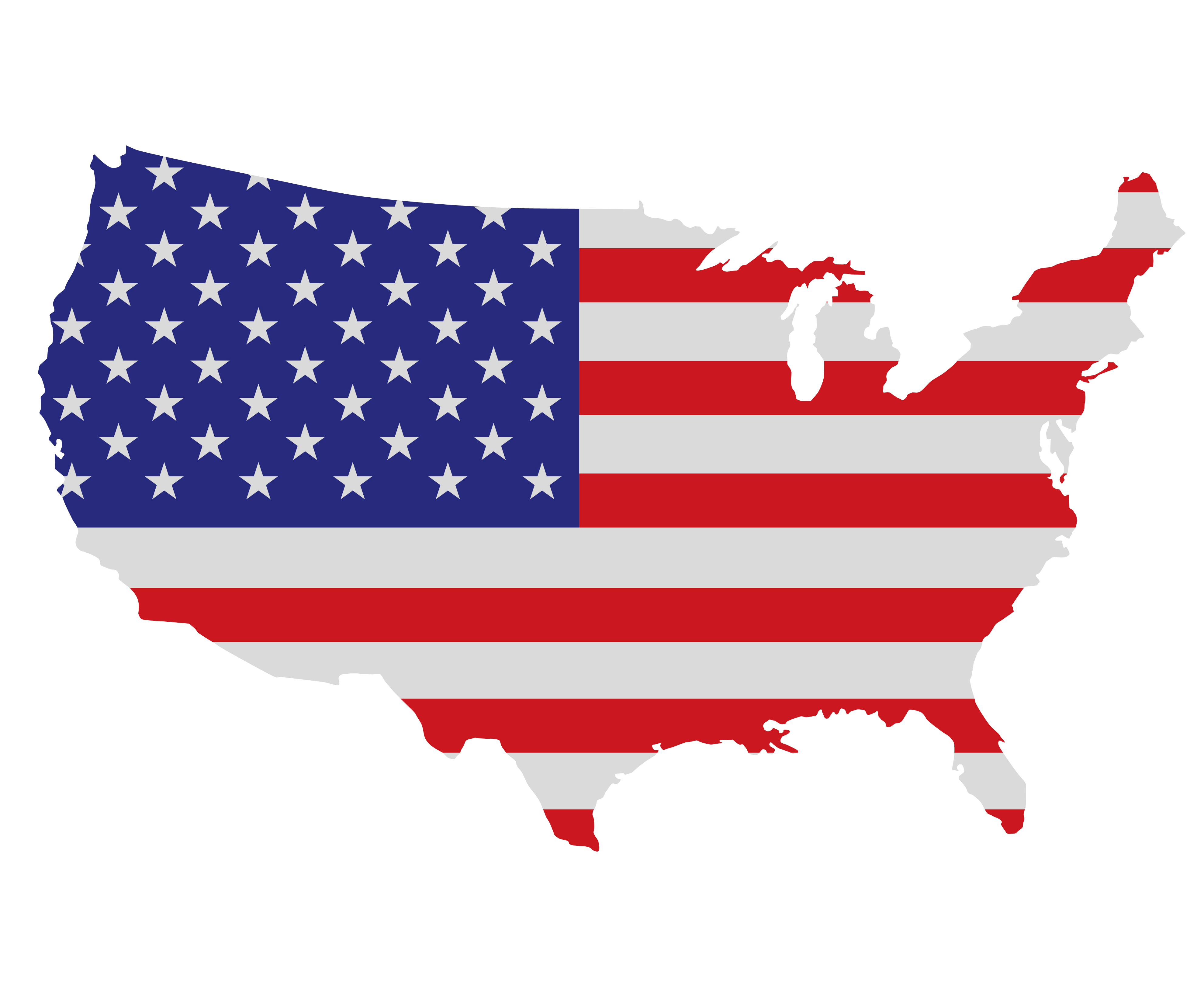 United States Of America Clipart Clipground - Clipart map of us states