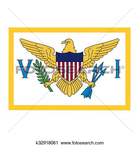 Clipart of United States Virgin Islands Flag k32918061.