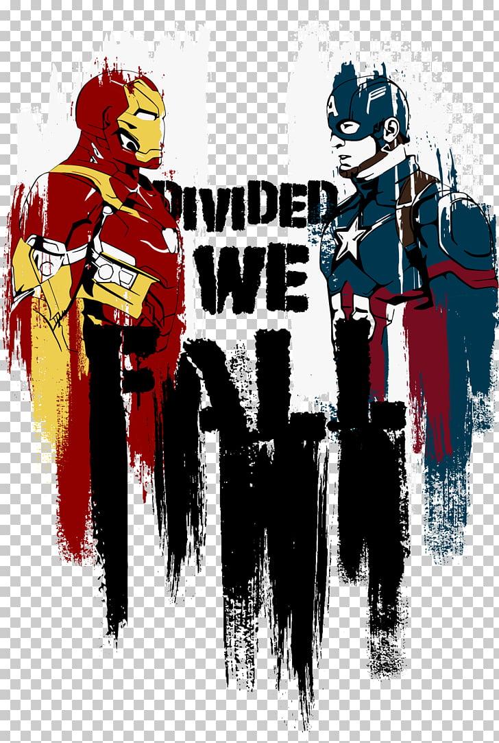 Captain America Thor Superhero United we stand, divided we.