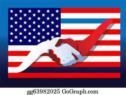 Flag Stand Clip Art.