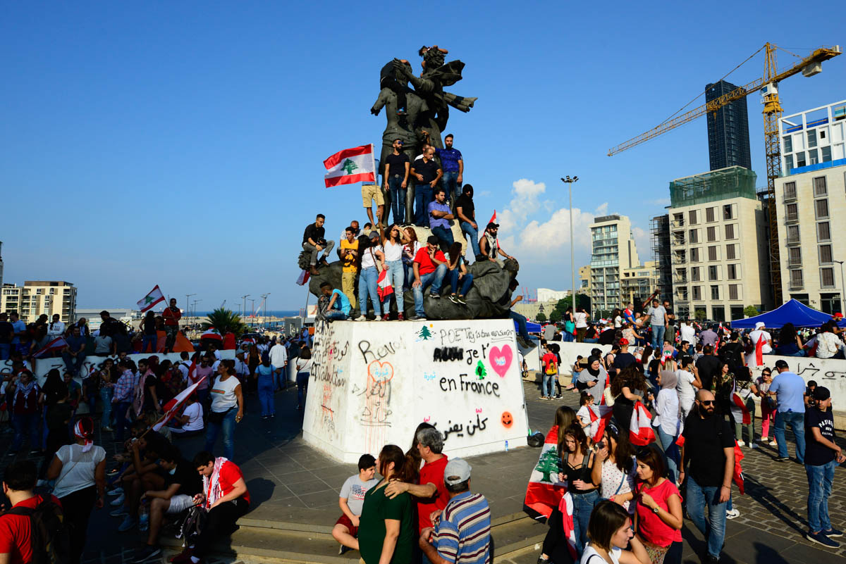 In Pictures: In Beirut, a revolution in unity over.