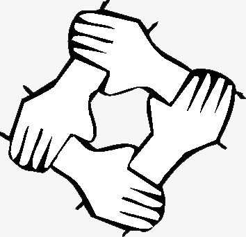 Unity Is Strength, Hand, Hand Painted, Lines Closed PNG.