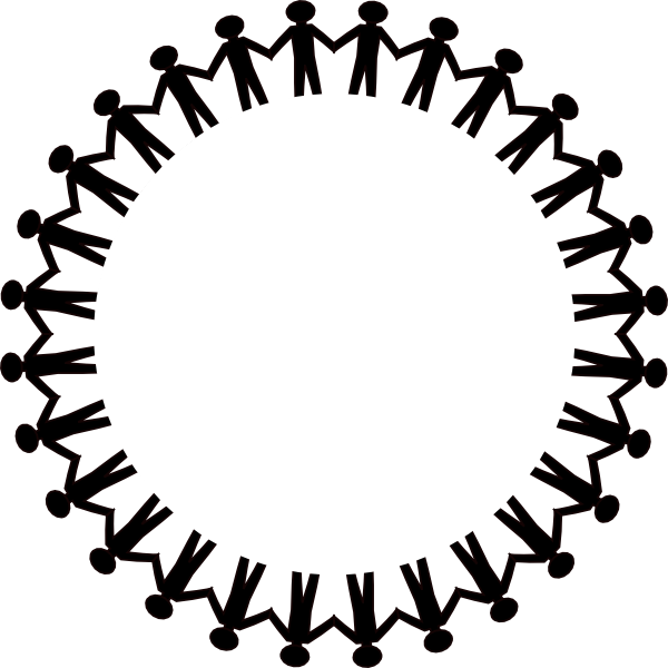 Circle Stick People Black No Border Clip Art at Clker.com.