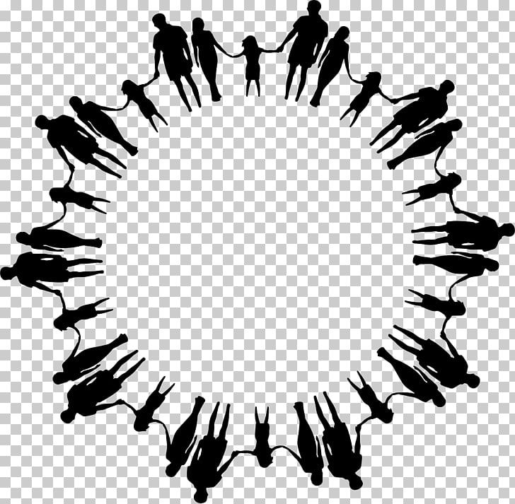unity, silhouette group of family illustration PNG clipart.