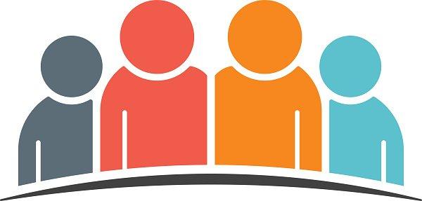 People Community Unity Logo vector illustration Clipart.