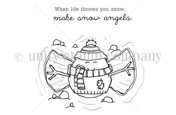 Make Snow Angels {snowpeep Gabe}.