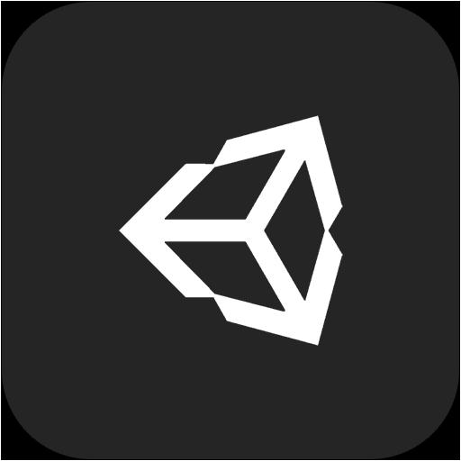 3d, unity icon.