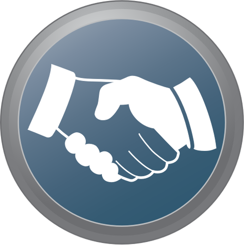 Hand shake sign vector image.