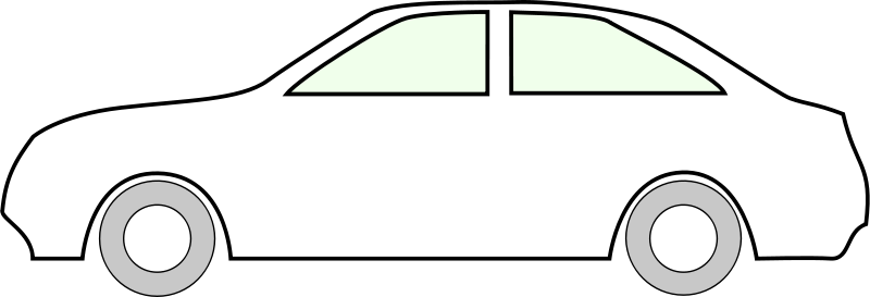 Car Front Outline Clipart.