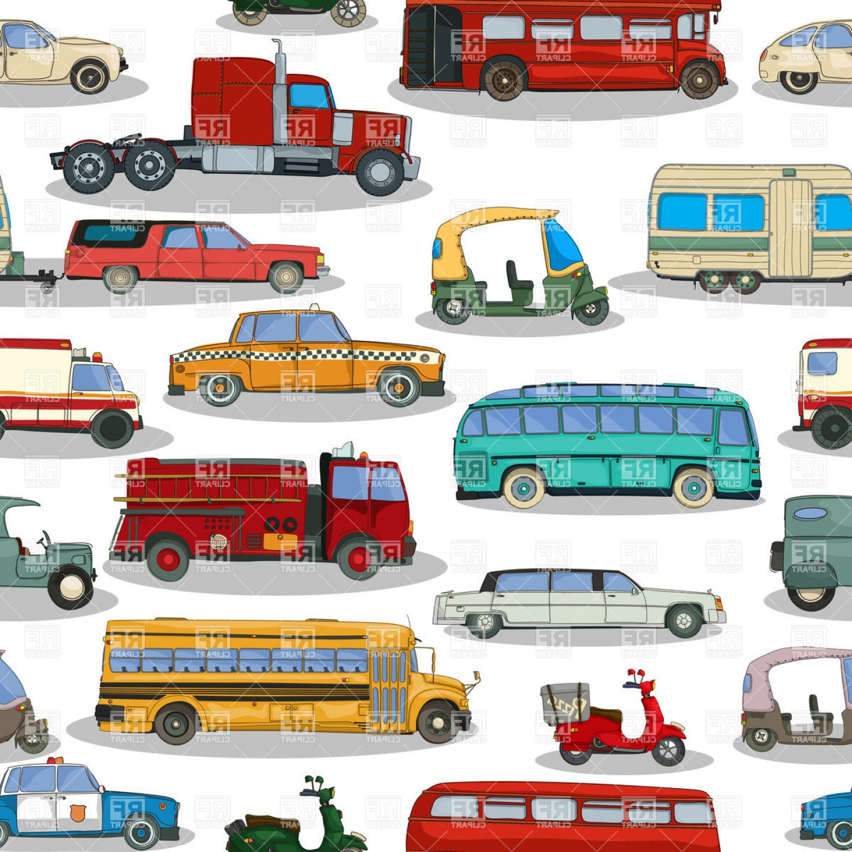 Top Cartoon Car Vector Front Layout.