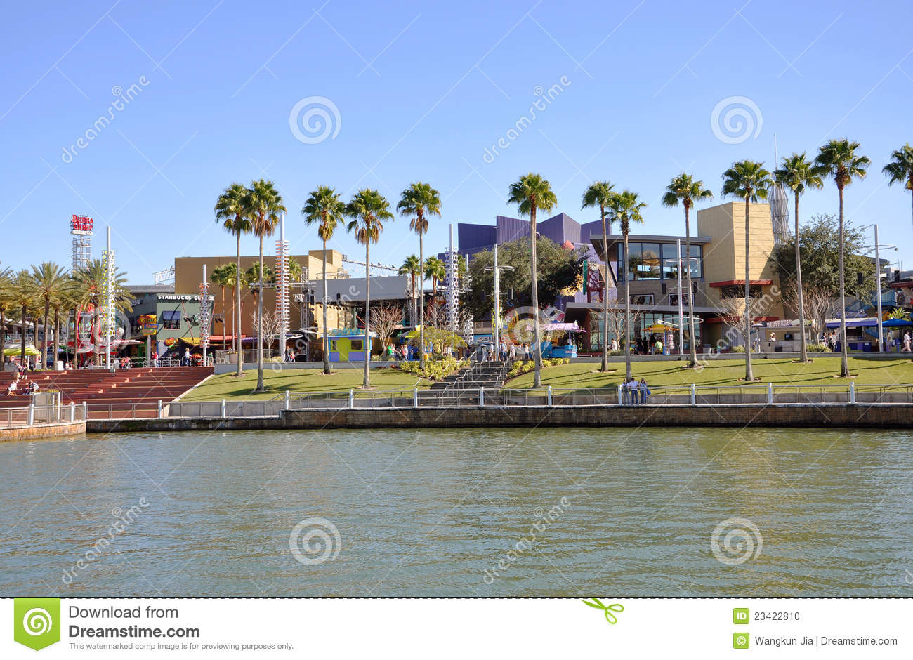 City Walk Universal Studios, Hollywood Editorial Stock Photo.