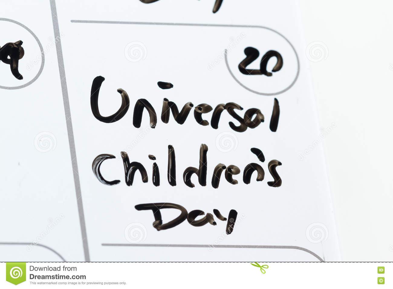 Universal Children's Day Stock Photo.