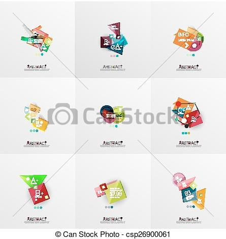 Clip Art Vector of Set of paper graphic layouts Universal.