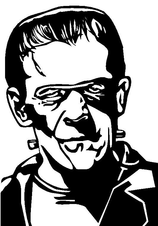 Free Frankenstein Head Silhouette, Download Free Clip Art.