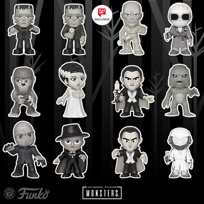 UNIVERSAL STUDIOS MONSTERS MYSTERY MINIS FIGURES WALGREENS EXCLUSIVE BLACK  WHITE.