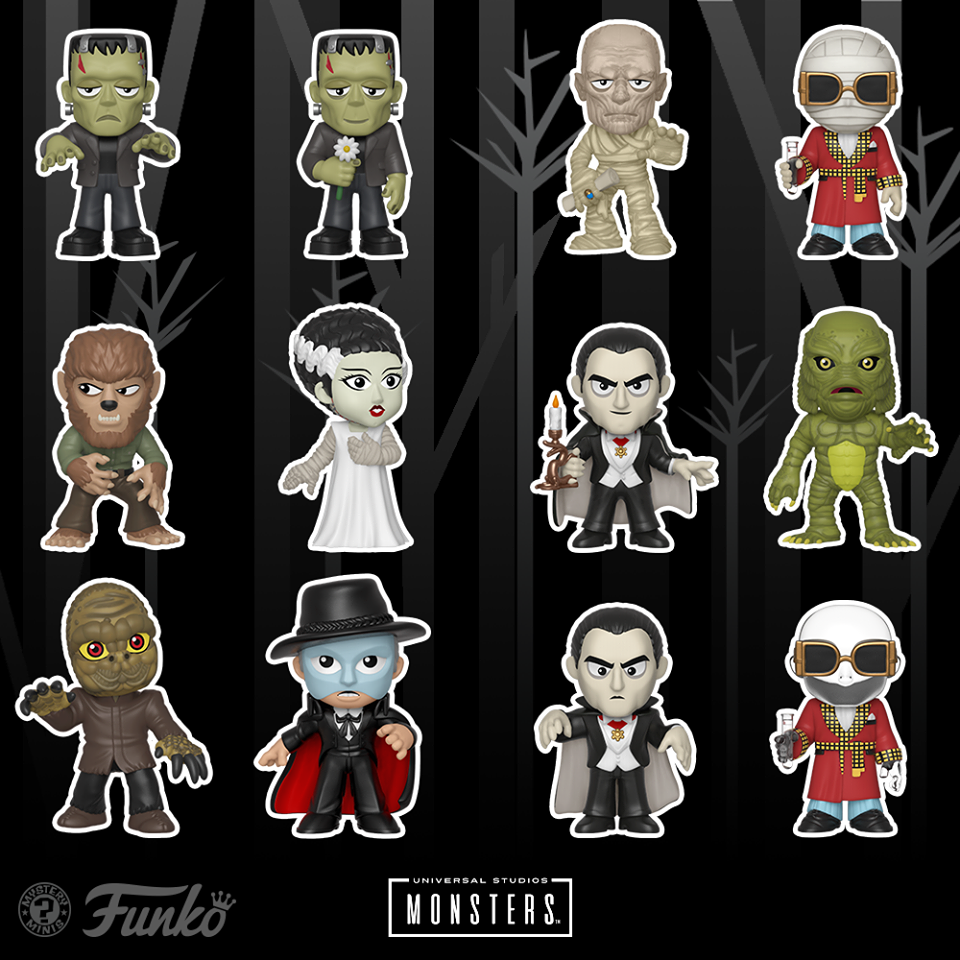"""Funko Reveals Its Line Of """"Universal Monsters Mystery Minis."""