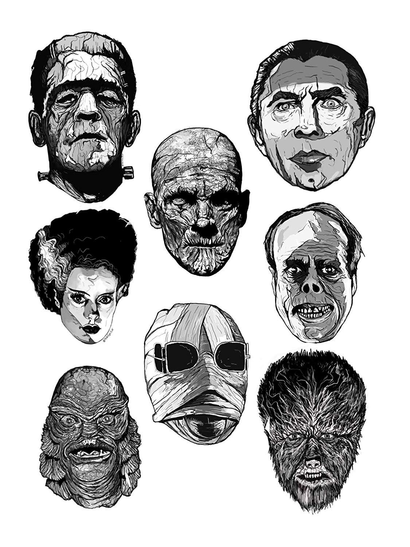 Universal Monster Sticker Set.