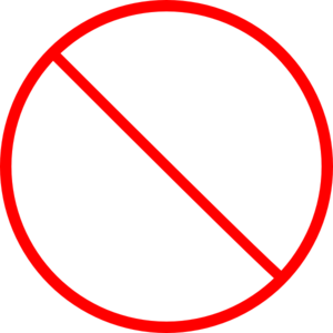 No Symbol Skinny Clip Art at Clker.com.