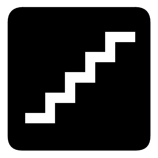 Stairs vector sign.