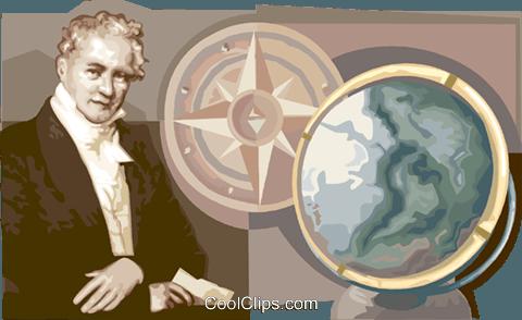 Alexander von Humboldt Universal scholar Royalty Free Vector Clip.