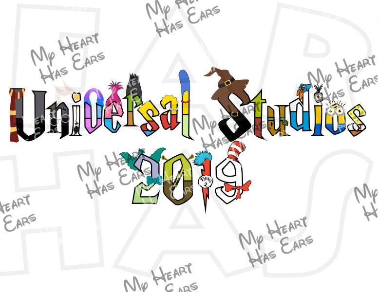 Universal Studios characters 2019 Harry Potter font INSTANT.