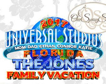 Universal Vacation Florida Universal Studios Iron On.