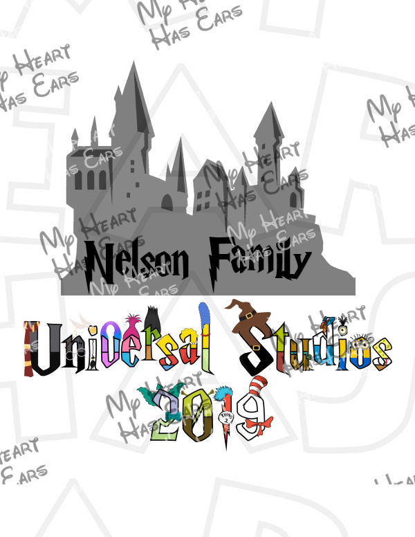 Universal Studios 2019 with Hogwarts and Personalized family.