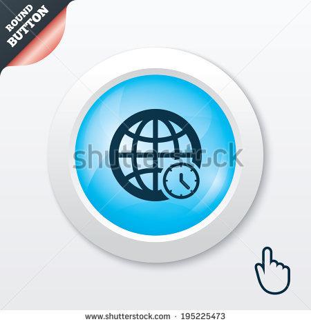 Blue Globe Clock Stock Vectors & Vector Clip Art.