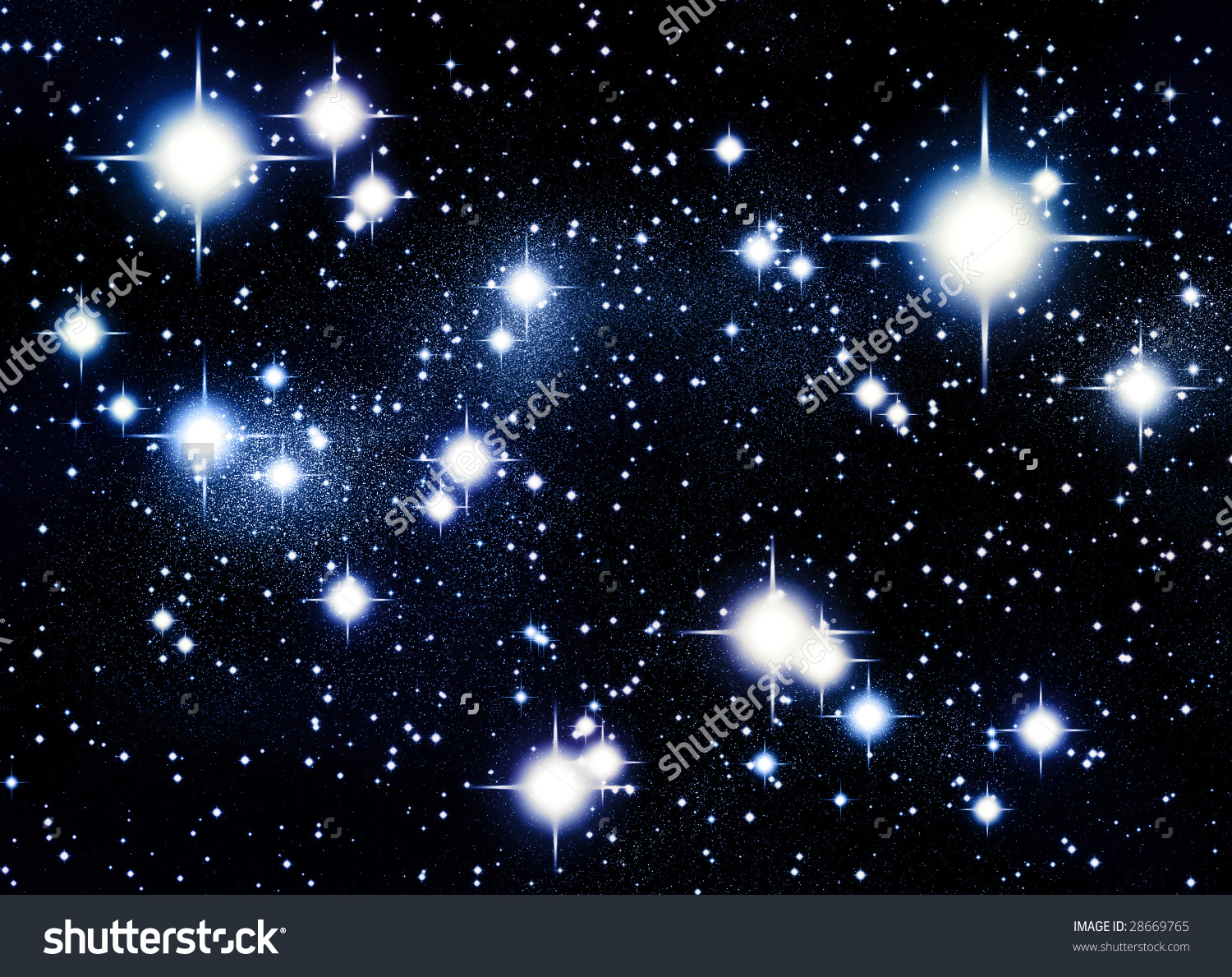 Stars in the Universe Clip Art.