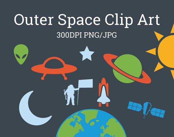 Outer Space Universe Galaxy Clip Art ~ Illustrations on Creative.