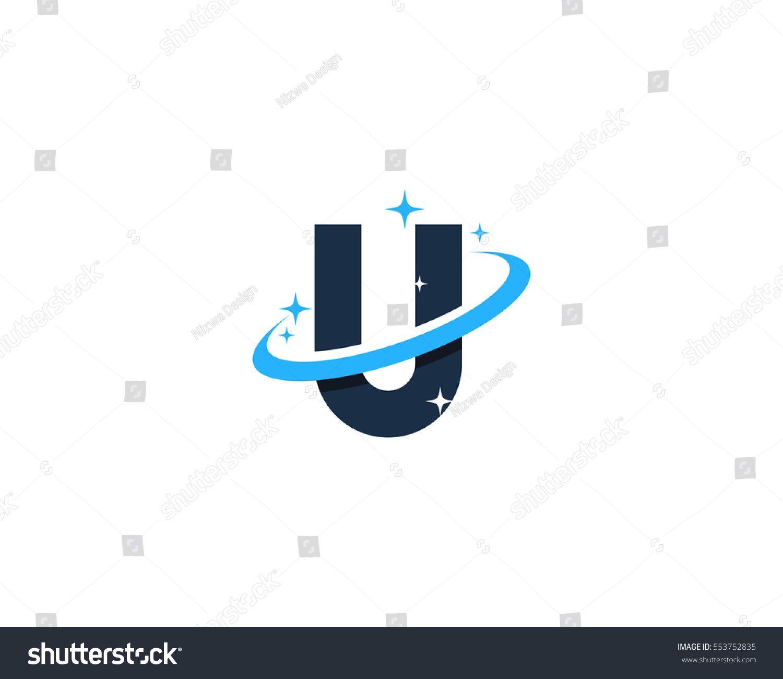 Letter U Universe Logo Design Element.