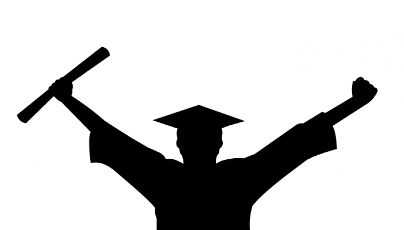Images of graduates with university graduation clipart.