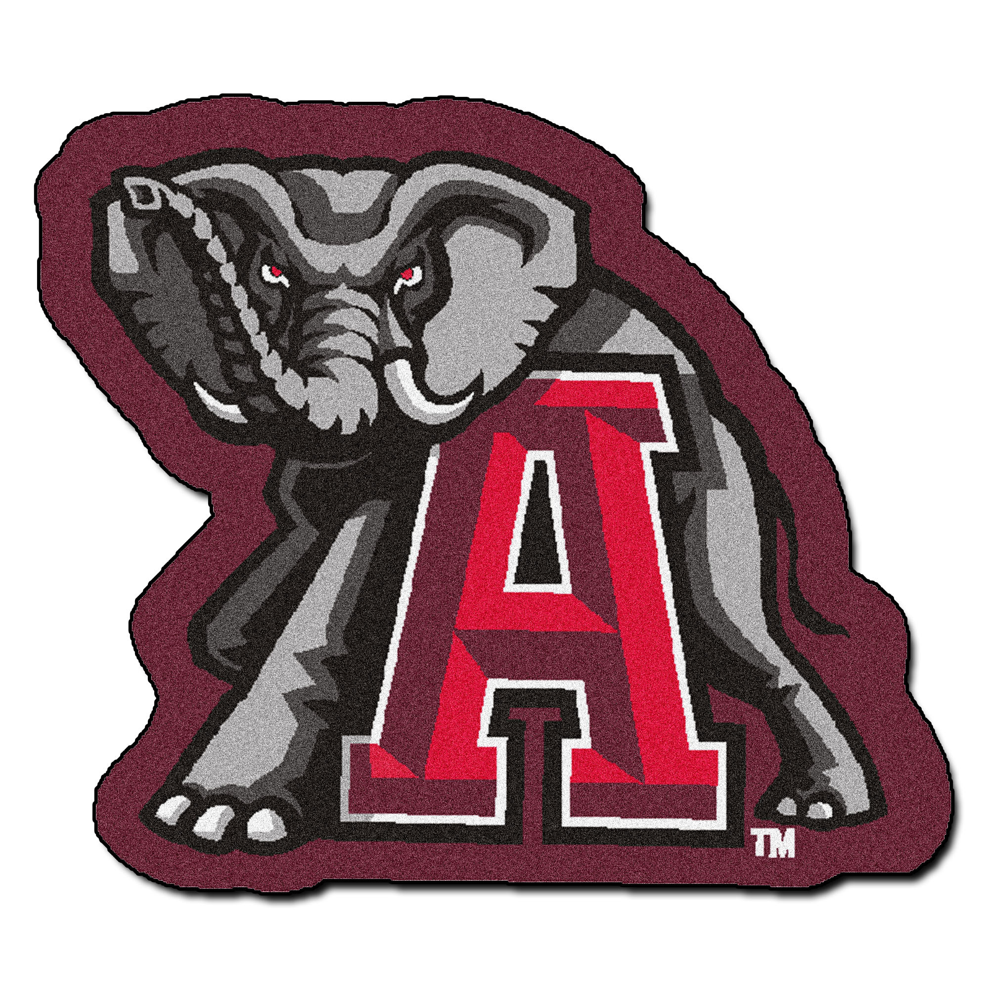 Details about University of Alabama Crimson Tide Mascot Area Rug.
