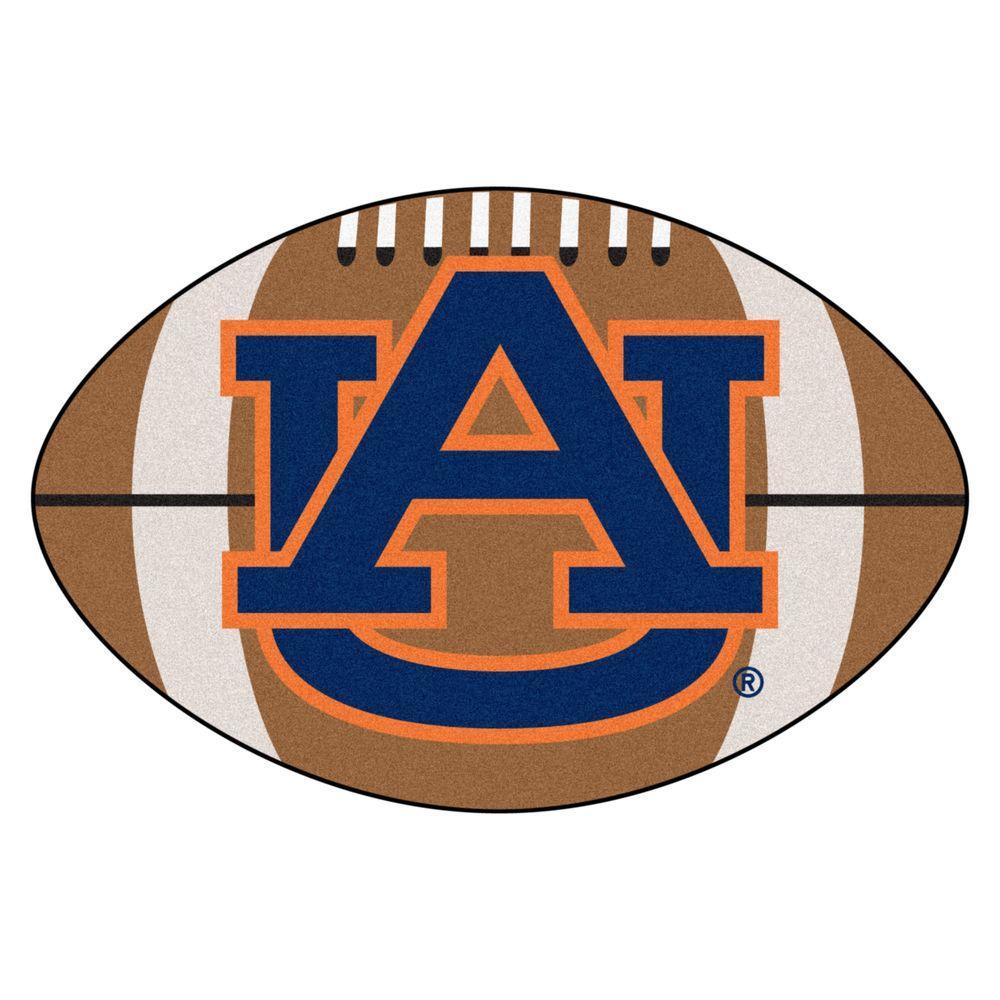 FANMATS NCAA Auburn University AU Logo Brown 2 ft. x 3 ft. Specialty Area  Rug.
