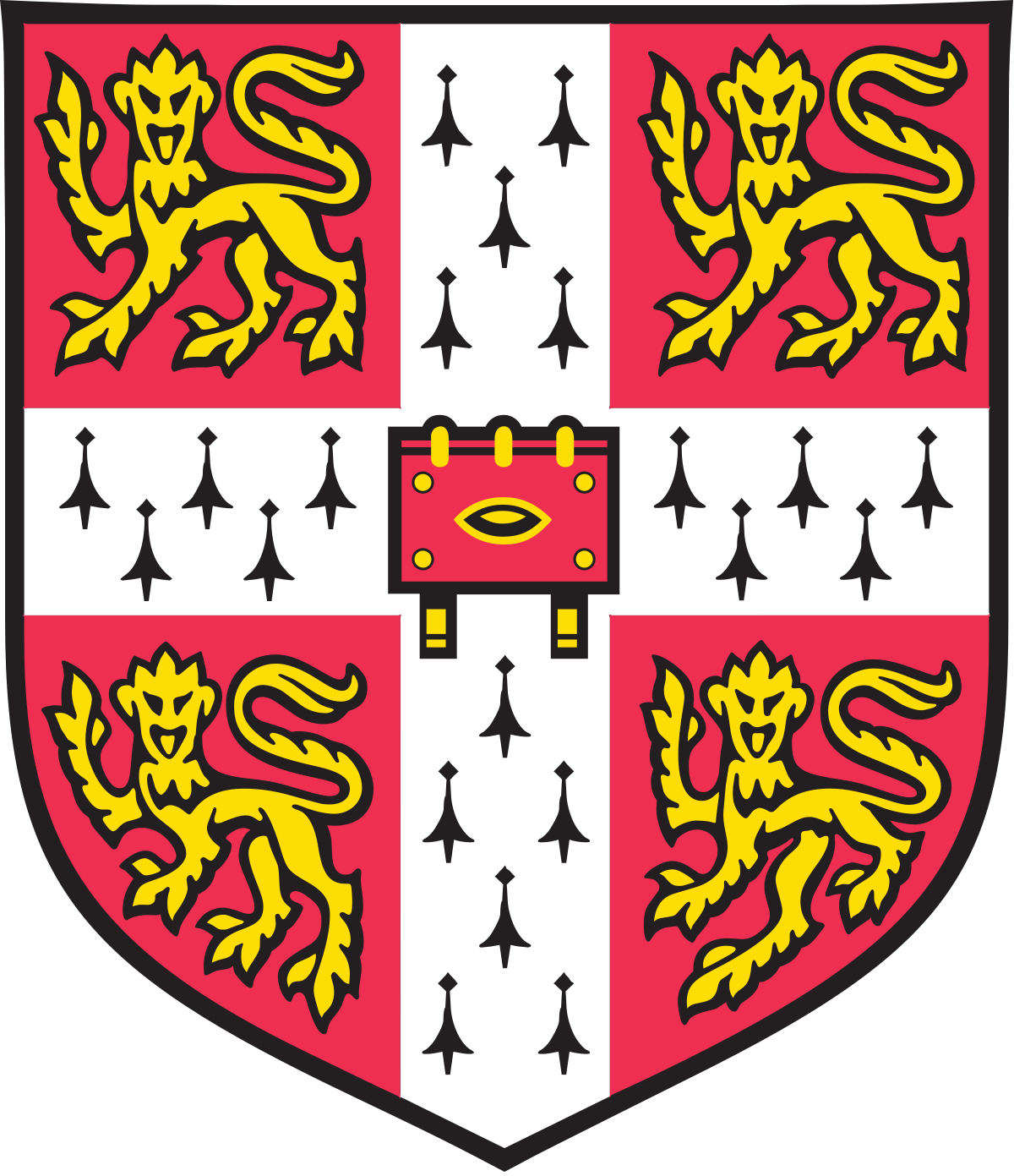 Coat of arms of the University of Cambridge.