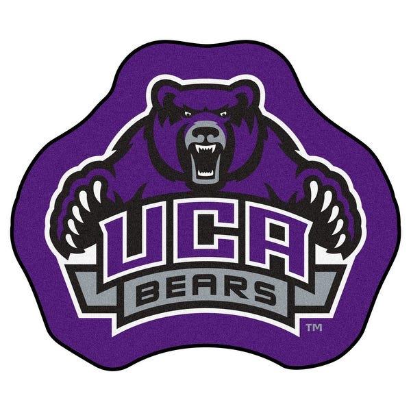 NCAA University of Central Arkansas Bears Mascot Novelty Logo Shaped Area  Rug.