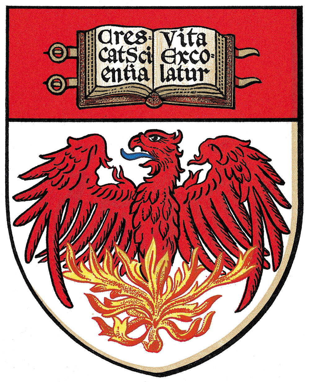 Coat of arms of the University of Chicago.