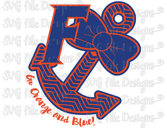 Go Orange and Blue University of Florida Gators Logo Chevron.