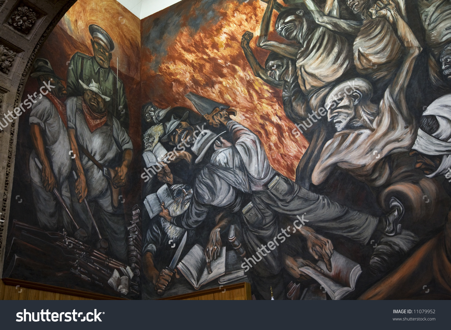 Mural By Jose Clemente Orozco University Stock Photo 11079952.