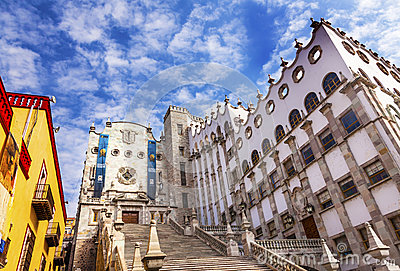 University Of Guanajuato Mexico Royalty Free Stock Photography.