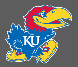 Details about University of Kansas Jayhawks Logo NCAA Vinyl Bumper Decal 5x5.