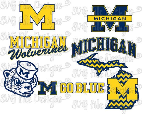 University of Michigan Wolverines Football Logo by.