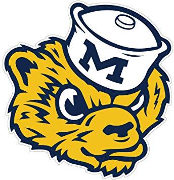 Michigan Wolverines Vinyl Stickers Logo //Any.
