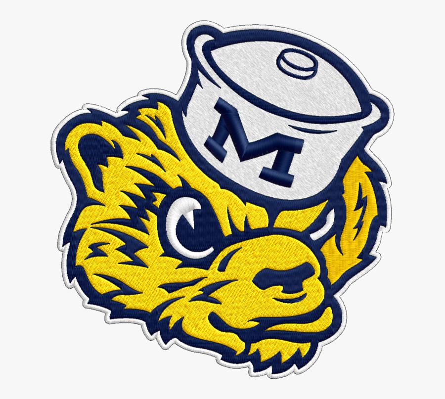 Michigan Wolverines Vintage Logo Clipart.
