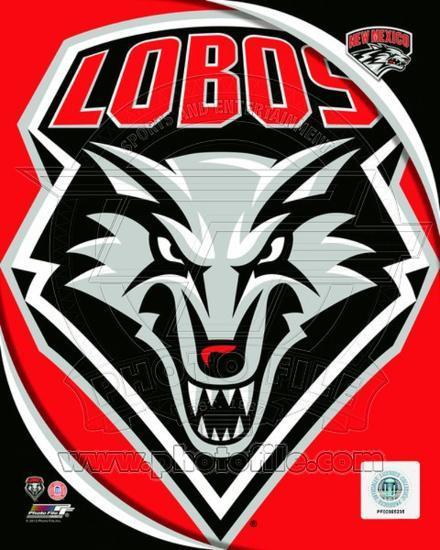University of New Mexico Lobos Team Logo.