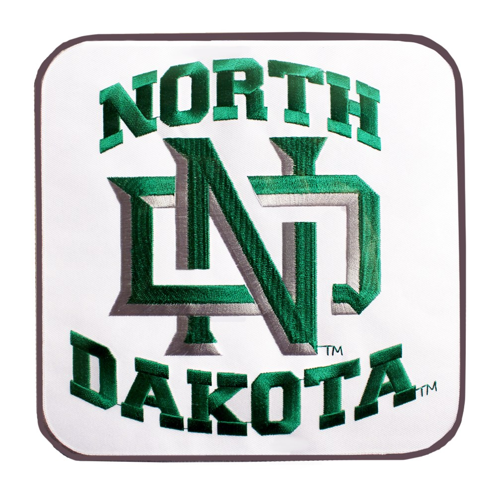 UNIVERSITY OF NORTH DAKOTA INTERLOCKING ND LOGO PATCH.